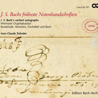 J.S. Bach's earliest autographs